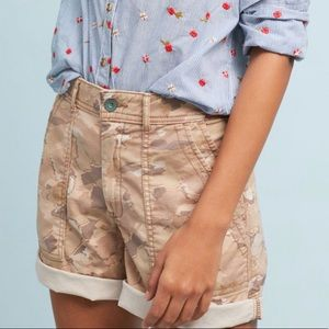 "Anthropologie ""The Wanderer"" Camo Shorts Size 26"